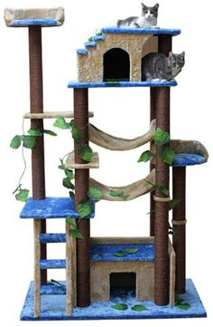 Put this sisal cat tree with hammock next to your sofa while reading or enjoying some family time and your cats will enjoy your company from their own special place.Sisal Cat Tree with Hammock - Put this great looking tree next to your sofa while reading Cat Castle, Cat Gym, Cat Tree House, Kitty House, Diy Cat Tree, Tree Furniture, Jungle Cat, Cat Towers, Cat Condo
