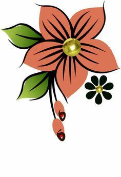 Flower Designs For Painting, Fabric Paint Designs, Flower Graphic Design, Page Borders Design, School Painting, Album Cover Design, Floral Drawing, Flower Doodles, Scripture Art
