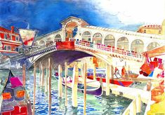 New Architectural Watercolors by Maja Wronska watercolor painting illustration architecture