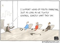 word of mouth marketing cartoon