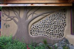 Cob wall in Portland