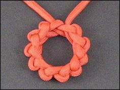 Round Brocade Knot- using 4 feet of 450 Nylon Paracord