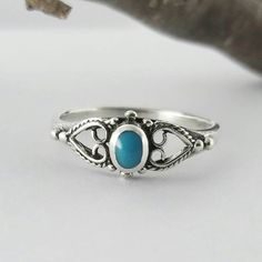 Turquoise RingSterling Silver Turquoise by ShootingStarBeads