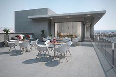 Terrazas - Aplicaciones - Hazlo con Cerámicos Dining Table, Patio, Outdoor Decor, Furniture, Gardens, Outdoors, Home Decor, Home, Decks