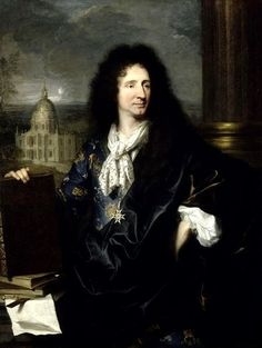* Retrato de Jules Hardouin-Mansart, Segundo Arquiteto de Versalhes * (by Jean-Baptiste Mauzaisse).