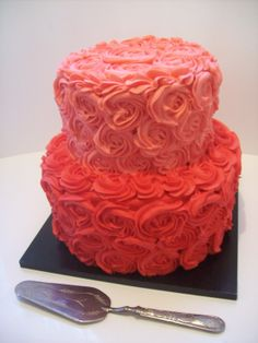 Rosette Wedding Cake $395 caters for 80 coffee serves.