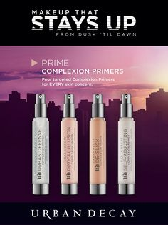 Whether you want a blown out effect or you just need to combat shine, we've got you covered. Our line-up of four target Complexion Primers tackles every skin concerned and are each loaded with good skin benefits. Skin Makeup, Beauty Makeup, Beauty Tips, Bombshell Makeup, Cosmetic Tattoo, Makeup Class, Blue Eyeshadow, Urban Decay Makeup, Face Primer