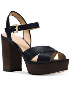 320ed4f3fec1 Michael Kors Divia Block Heel Platform Sandals   Reviews - Sandals   Flip  Flops - Shoes - Macy s
