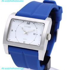 ALEXIS Big Case  Silicone Date Watches For Men Women  PNP Matt Silver Watchcase Blue Band Unisex Fashion Watch FW606J. Yesterday's price: US $23.99 (19.53 EUR). Today's price: US $19.19 (15.57 EUR). Discount: 20%.