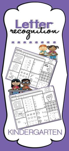 Letter Recognition Activity Worksheets  Each worksheet features TEN different activities, these include:   - Sign it - Dab it - Highlight it - Exit it  - Join it - Complete it - Match it  - Find it  - Box it  - Trace it  - Practice it