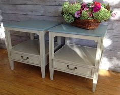 Exquisite End Tables, Shabby Chic, Farmhouse Vintage, Cottage Chic, Chalk Paint on Etsy, $175.00