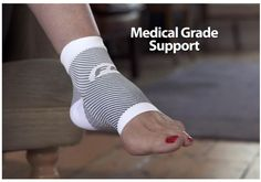 The FS6 Ortho-Sleeve is great for people with plantar fasciitis. The Compression Zone at the Arch keeps your feet supported.