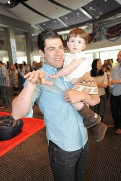 New Girl's Max Greenfield took his daughter, Lily, to an April 2012 event in LA.    #celebrities #celebrity dads #celebrities' kids