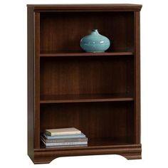 Carolina Estate 3-Shelf Bookcase in Cherry | Nebraska Furniture Mart