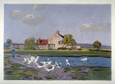 Geese, 1897. Alfred Sisley