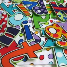Not sure what I would do with these alphabet letters, but they look really fun and colorful! #ArtFire