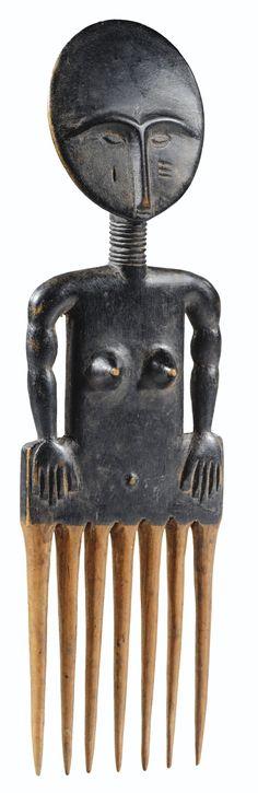 akan peigne, ashanti     jewellery/combs     sotheby's pf1218lot6mrjsfr