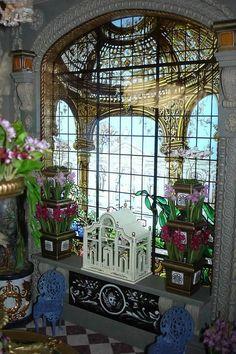 1:12 bellissimo miniatura mahaghoni muro tavolo-casa delle bambole