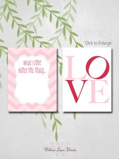 Valentines Day Gift for Him/Husband. Print it, Frame it, Write on it Daily!