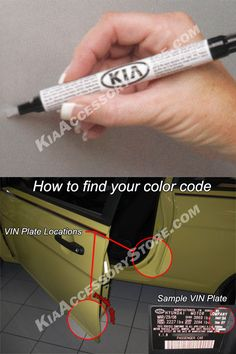 Kia Touch Up Paint Pen w/ clearcoat 2-in-1 $8.51 sale (9.45)