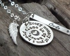 Angel Mom / Loss of Mother /Memorial Necklace /Sterling Silver /Personalized Memorial Gift Idea /Remembrance Jewelry /Sympathy funeral gift Friend Jewelry, Sister Jewelry, Cousin Gifts, Gifts For Wife, Good Morning Greetings Images, Personalized Memorial Gifts, Funeral Gifts, Remembrance Gifts, Silver Wings