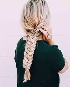 Box Braids Hairstyles, My Hairstyle, Pretty Hairstyles, Fishtail Braid Hairstyles, Night Hairstyles, Medium Hairstyles, Lange Blonde, Natural Hair Styles, Short Hair Styles