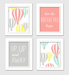 Hot Air Balloon Nursery Oh the places you will go by ChicWallArt