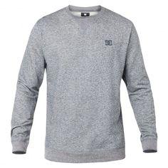 DC Shoes Rebel Crew sweat-shirt heather bluestone - dark heather grey  #dc #dcshoes #dcshoecousa #dcskateboarding #skate #skateboard #skateboarding #streetshop #skateshop @playskateshop