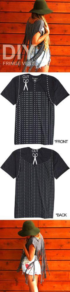 DIY TUTORIAL Fringe Vest - 16 Hippy DIY Tutorials for All Boho-Chic Princesses | GleamItUp