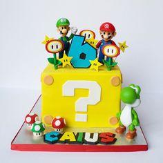 Mario Birthday Cake, Super Mario Birthday, Super Mario Party, 6th Birthday Parties, 8th Birthday, Birthday Cakes, Birthday Ideas, Mario Kart Cake, Mario Bros Cake