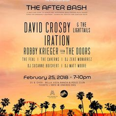 THE AFTER BASH!!! Sunday, Feb. 25, 7pm BE. THERE. 🎟 Ticket info on our website www.one805.org! Your ticket includes Alcohol + Food + The Concert!!! 😱😱😱 #one805 #iration