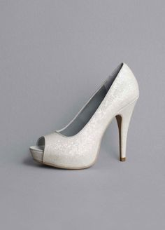 Glitter Platform Pump with Peep Toe Women's