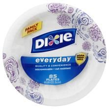 Dixie Everyday Plates, 8-1/2 Inch, Family Pack Paper Plates, Bowls, Tableware, Serving Bowls, Dinnerware, Dishes