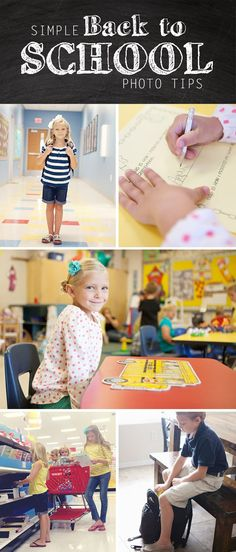 Simple Back to School Photo Tips. I love DIY school photos! Back To School Pictures, Back 2 School, 1st Day Of School, School Photos, School School, School Lunches, School Photography, Children Photography, Photography Tips