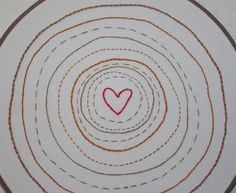 Tree Rings Embroidery Art ~ Mom's Crafty Space