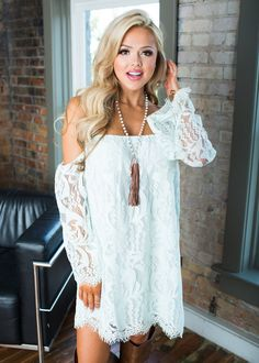 Cowgirl white off the shoulder vintage lace dress
