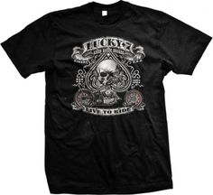 Lucky Seven, Live To Ride Motorcycle Mens T-shirt, Spade Skull Chopper Design Mens Tee Shirt, Small, Black Ghast http://www.amazon.com/dp/B004Z99TJK/ref=cm_sw_r_pi_dp_yT5Bub1C8RXWV