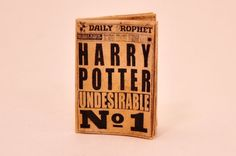 Miniature Daily Prophet Wizard Newspaper Potter by ParticularlyUnusual, $7.00