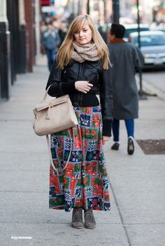 woman in floral maxi
