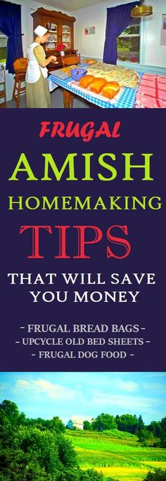 Amish Frugal Homemaking Tips #amish #homemaking #housekeeping #frugal