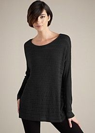I live in these Eileen Fisher tunics and leggings- perfect for working at home