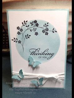 Masked sponging sympathy card. Http://bagsthatone.stampinup.net/