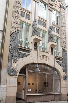 Portals, architecture detail, art deco.