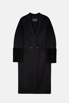 // Calvin Klein Collection — Double Weave Cashmere And Shearling Coat — THE LINE
