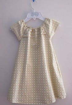 Moriah, who provides patterns and tutorials, and they seem to be free, for those of us who are money short/determined long, is doing a huge service. Many thanks, Moriah. From a Canadaian gramma. Girls Dress. #sewing