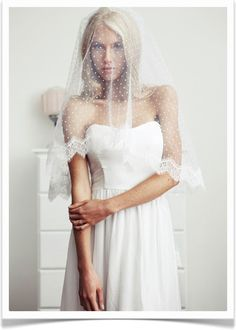 simple... beautiful...my dream veil  Sweet Swiss Dots.   #CupcakeDreamWedding
