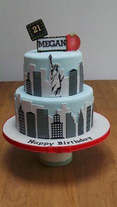 New+York+Skyline+21st+Birthday+Cake+-+Cake+by+The+Old+Manor+House+Bakery+-+Lisa+Kirk