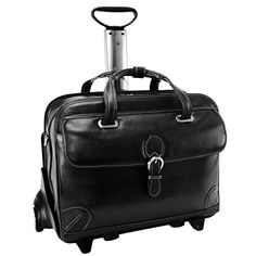"Siamod Carugetto Wheeled 17"" Laptop Bag - Black  electronic gifts for women"