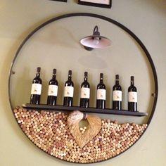 Wine barrel cork holder