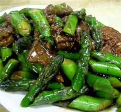 Asparagus and Beef with Black Beans